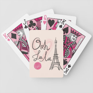 Hand Drawn Eiffel Tower Bicycle Playing Cards