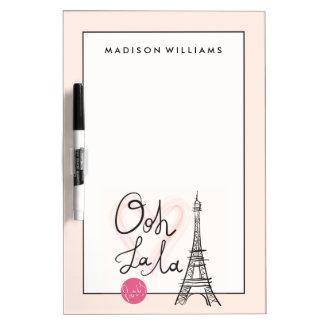 Hand Drawn Eiffel Tower Dry Erase Board