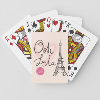 Hand Drawn Eiffel Tower Playing Cards