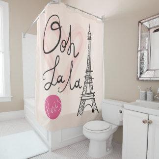 Hand Drawn Eiffel Tower Shower Curtain