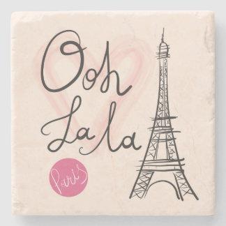 Hand Drawn Eiffel Tower Stone Coaster