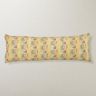 Hand drawn ethinc pattern background Body Pillow