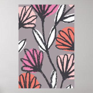Hand Drawn Floral Botanical Poster