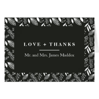 Hand Drawn Floral Illustration Thank You Card
