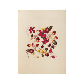 Hand drawn Floral wood Wood Poster