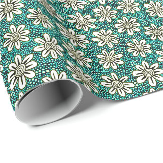 Hand Drawn Flower Pattern 140617 - Colors 01 Wrapping Paper