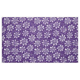 Hand Drawn Flower Pattern 140617 - Deep Purple Fabric