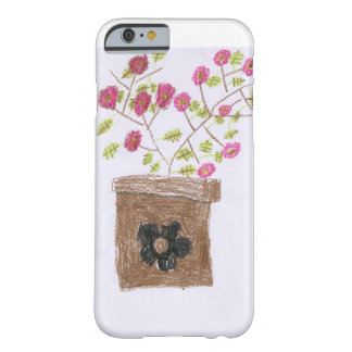 Hand Drawn Flower Pot Barely There iPhone 6 Case