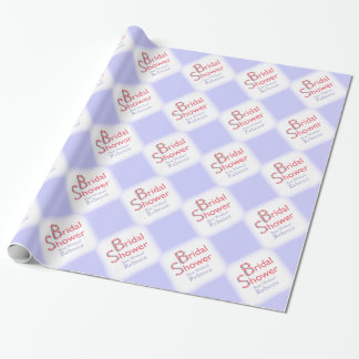 Hand Drawn Flowers Light Purple Shower Wrapping Paper