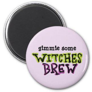 Hand-drawn & Fun Witches Brew Text Light 6 Cm Round Magnet