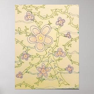 Hand-drawn Garden Poster (Vintage)