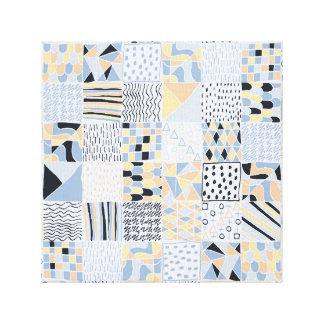 Hand Drawn Geometric Squares Print