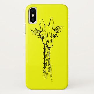 Hand-drawn Giraffe iPhone Case in Unique Art Style