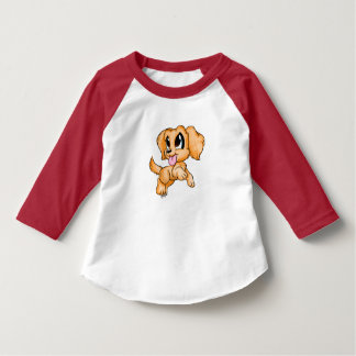 Hand Drawn Golden Retriever Toddler's Baseball Tee