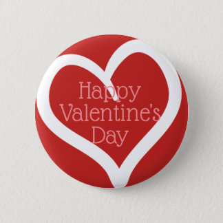 Hand Drawn Heart, Editable Message & Red Colour 6 Cm Round Badge