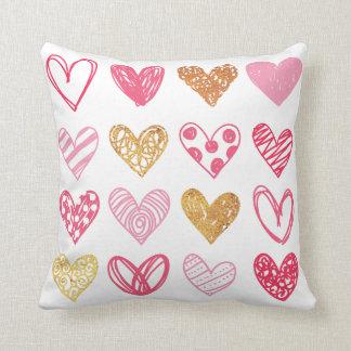 Hand Drawn Heart Pattern ID470 Cushion