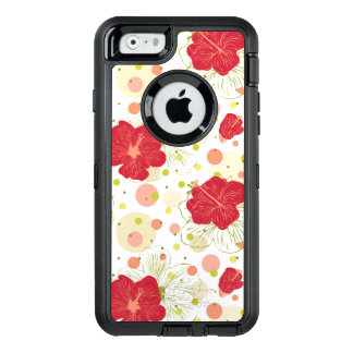 Hand Drawn Hibiscus Pattern OtterBox iPhone 6/6s Case