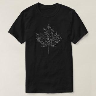 Hand Drawn Hockey Canada Leaf T-Shirt