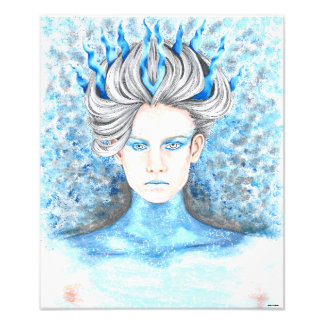 Hand Drawn Ice Queen Photo Print