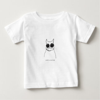 "Hand drawn illustration ""You're a cool cat"" Baby T-Shirt"