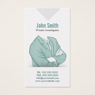 Hand Drawn Investigator Business Card