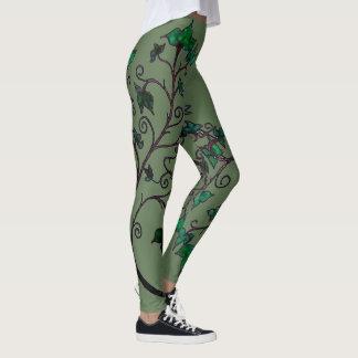Hand Drawn Ivy Elven Cosplay Leggings