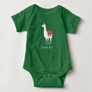 Hand Drawn Llama U-Pick Background Color Baby Bodysuit