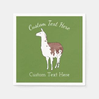 Hand Drawn Llama U-Pick Background Colour Paper Napkin