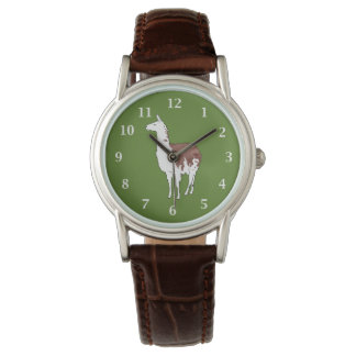 Hand Drawn Llama U-Pick Background Colour Watch