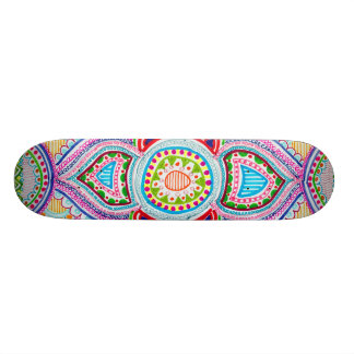 Hand-Drawn Mandala Skateboard
