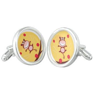 Hand drawn Monkey earrings Cufflinks