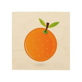 Hand drawn Orange on wood : Original art Wood Prints