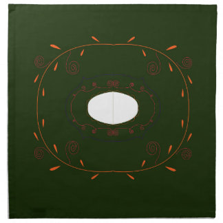Hand drawn Ornamental Mandala Folk Napkin