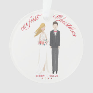 Hand Drawn Personalized First Christmas Ornament