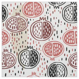 Hand Drawn Pomegranate Pattern ID491 Fabric