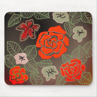 Hand Drawn Rose Art Mouse Pad