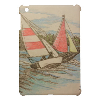 Hand drawn Sailboats Cover For The iPad Mini