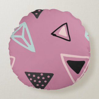 Hand Drawn Shapes Pattern (Customizeable Color!) Round Cushion