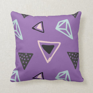 Hand Drawn Shapes Pattern (Customizeable Color!) Throw Cushion