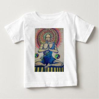 Hand drawn sitting monk Buddha in prayer Baby T-Shirt