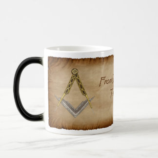 Hand Drawn Square and Compass Magic Mug