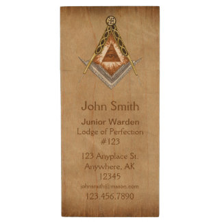 Hand Drawn Square and Compass With All Seeing Eye Wood USB Flash Drive