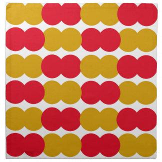 Hand drawn Stylish Polka dots : RED, GOLD Napkin