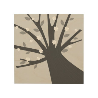 Hand-drawn Tree on wood Wood Wall Art