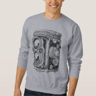 Hand-drawn vintage camera sweatshirt