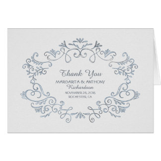hand drawn white wedding thank you cards