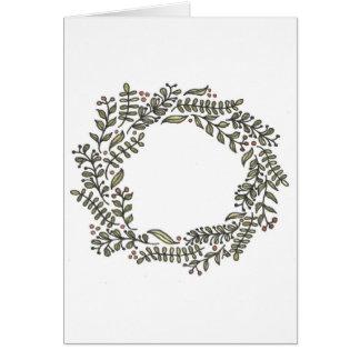 Hand Drawn Winter Wreath Card