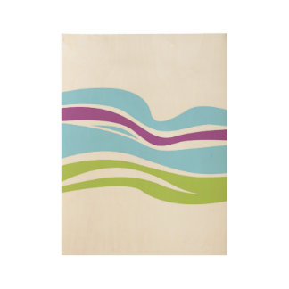 Hand drawn Wood poster : with Rainbow