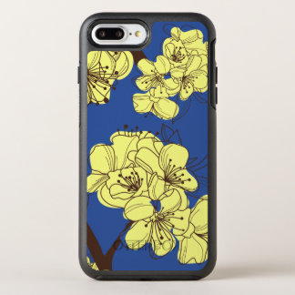 Hand Drawn Yellow Wild Flowers on Blue OtterBox Symmetry iPhone 8 Plus/7 Plus Case