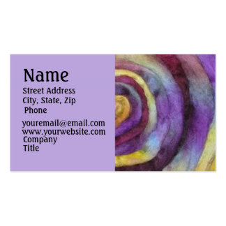 Hand Dyed Roving Business Card